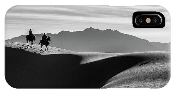 Horseback At White Sands IPhone Case