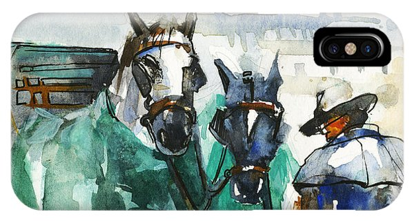 Wild Life iPhone Case - Horses by Kristina Vardazaryan