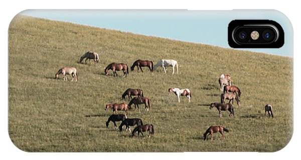 Horses On The Hill IPhone Case
