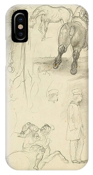 Impressionistic iPhone Case - Horses Riders And A Young Man by Edgar Degas