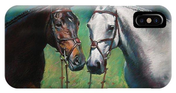 White Horse iPhone Case - Horses by Ylli Haruni