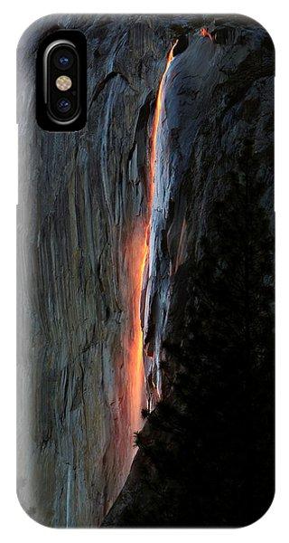 Horsetail Falls Aglow IPhone Case