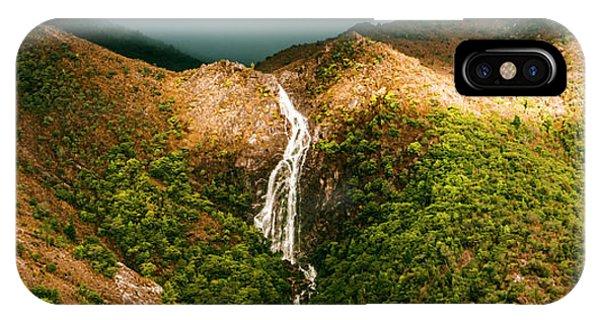 Horsetail Falls In Queenstown Tasmania IPhone Case