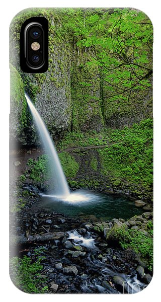 Horsetail Falls Waterfall Art By Kaylyn Franks IPhone Case