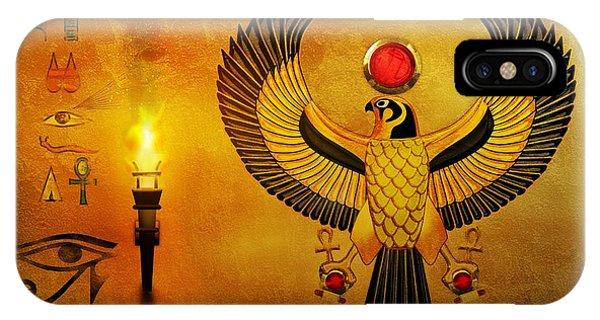 Horus Falcon God IPhone Case