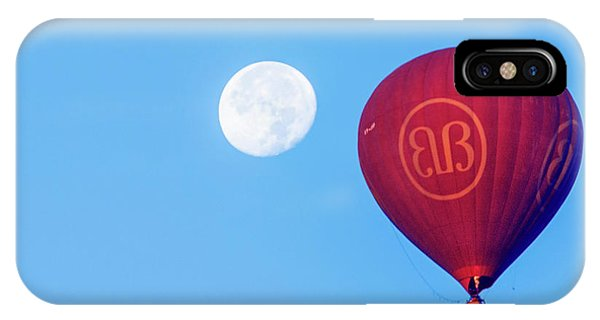 Hot Air Balloon And Moon IPhone Case