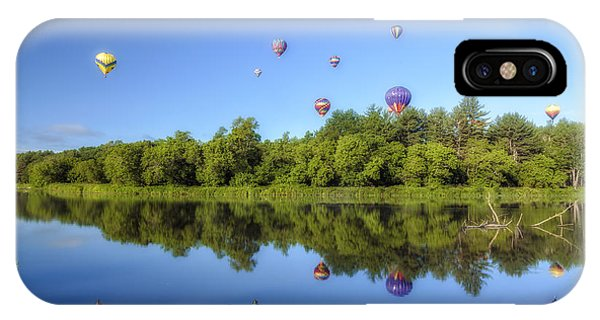 Quechee Balloon Fest Reflections IPhone Case