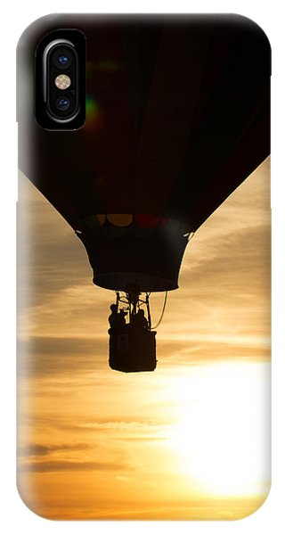 Hot Air Balloon Sunset Silhouette IPhone Case