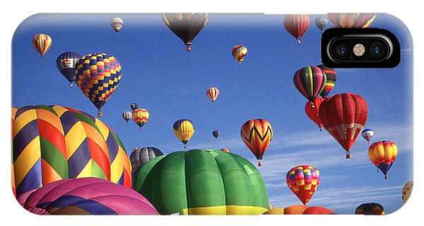 Beautiful Balloons On Blue Sky - Color Photo IPhone Case