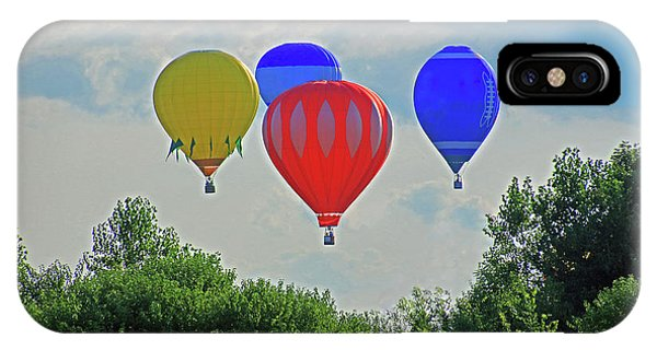 IPhone Case featuring the photograph Hot Air Balloons In The Sky by Angela Murdock