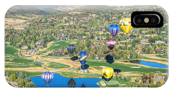 Hot Air Balloons Over Park City IPhone Case