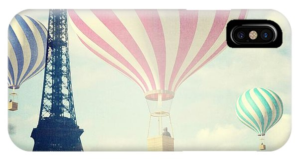 Hot Air Balloons iPhone Case - Hot Air Balloons In Paris by Marianna Mills