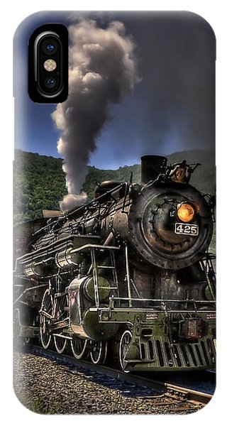 Train Tracks iPhone Case - Hot And Steamy by Evelina Kremsdorf