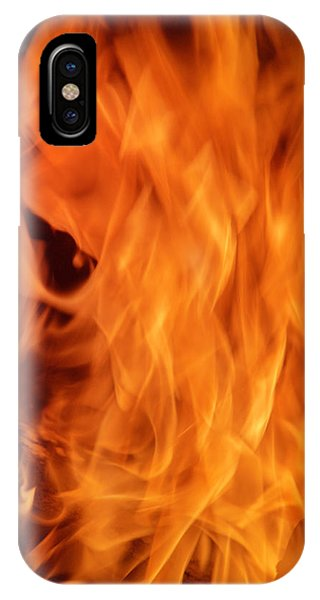 Flammable iPhone Case - Hot Blazing Fire by Garry Gay