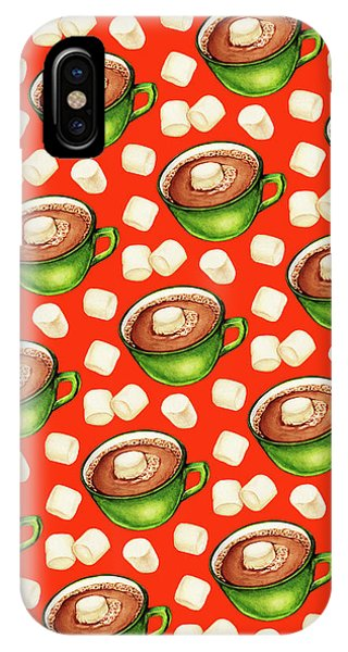 Christmas iPhone Case - Hot Cocoa Pattern by Kelly Gilleran