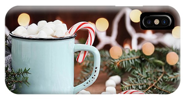 Hot Cocoa With Marshmallows And Candy Canes IPhone Case
