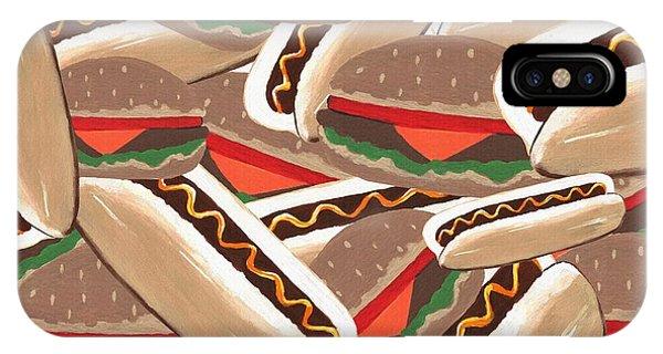 Mustard iPhone Case - Hot Dogs And Hamburgers by Kathleen Sartoris