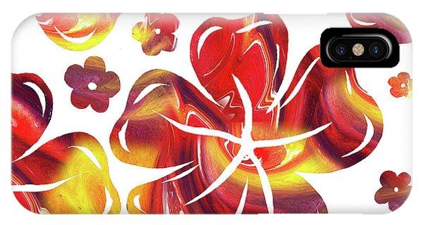 Hibiscus Flower iPhone Case - Hot Flowers Dancing Silhouettes by Irina Sztukowski