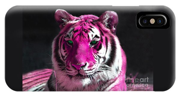 Hot Pink Tiger IPhone Case