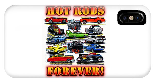 Hot Rods Forever IPhone Case