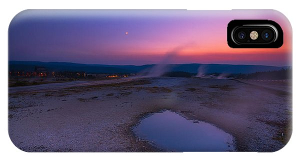Yellowstone National Park iPhone Case - Hot Spring Sunset by Michael Ver Sprill