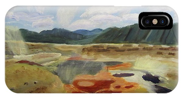 IPhone Case featuring the painting Hot Springs by Linda Feinberg