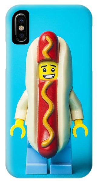 Humor iPhone Case - Hotdog Dude by Samuel Whitton
