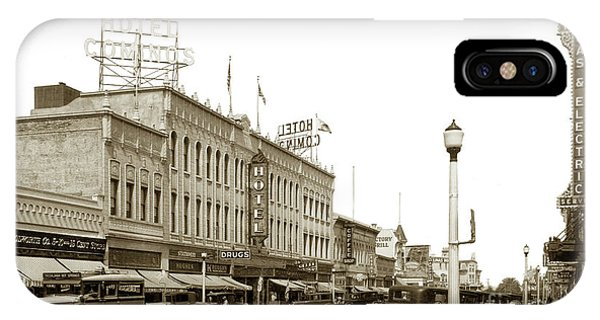 Hotel Cominos On Main Street In Salinas, Calif. Circa 1932 Zan Stark Photo # 423  IPhone Case