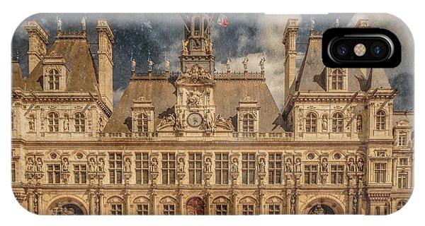 Paris, France - Hotel De Ville IPhone Case