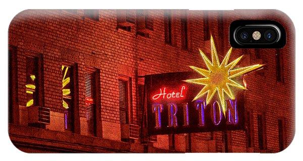 Hotel Triton Neon Sign IPhone Case
