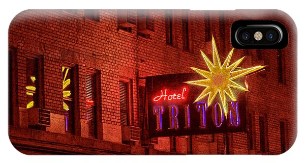 Hotel Triton Neon Sign IPhone Case
