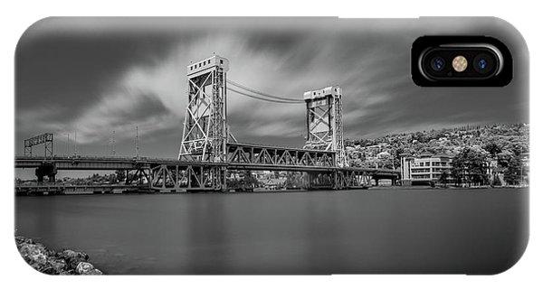 Houghton Portage Bridge IPhone Case