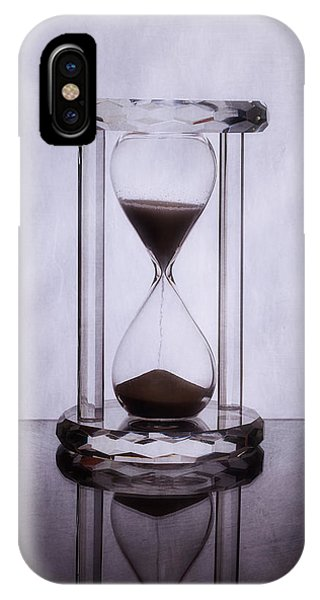 Clear iPhone Case - Hourglass - Time Slips Away by Tom Mc Nemar