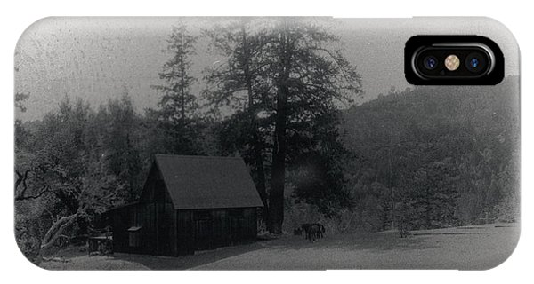 House And Horse IPhone Case