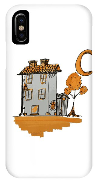 House And Moon IPhone Case