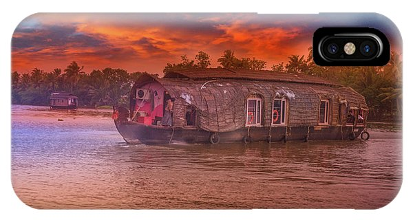 Kerala iPhone Case - House Boat by Art Spectrum
