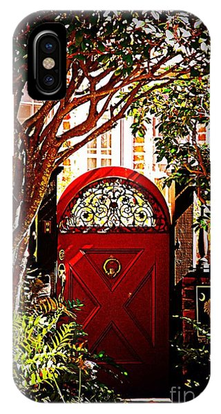 House Door 5 In Charleston Sc  IPhone Case