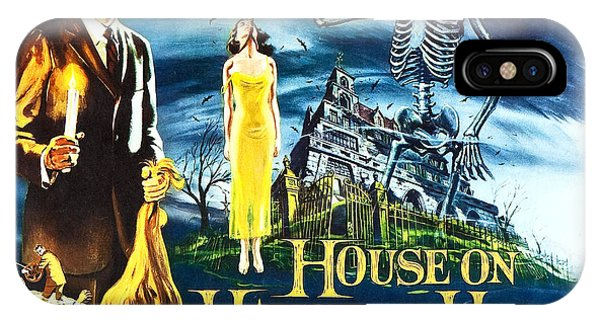 House On Haunted Hill Poster Classic Horror Movie  IPhone Case
