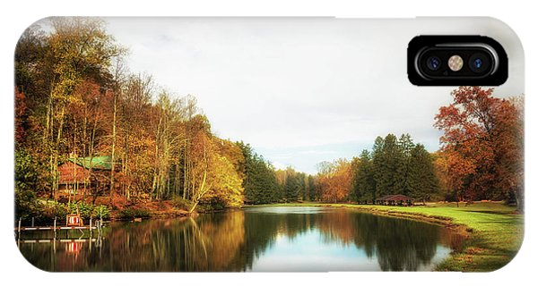 Cabin iPhone Case - House On The Lake II by Tom Mc Nemar