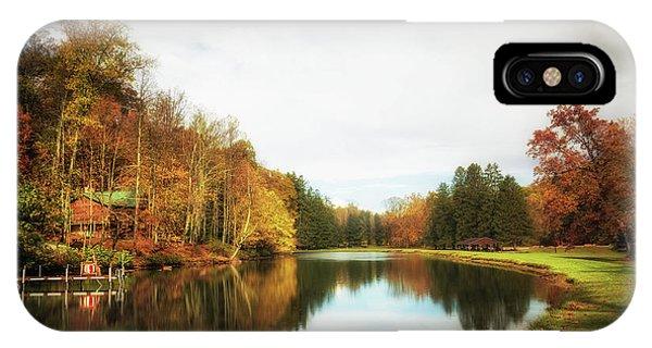 Home iPhone Case - House On The Lake II by Tom Mc Nemar