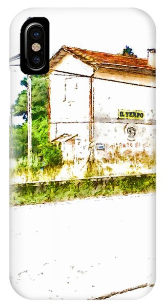 Pylon iPhone Case - House On The Railway by Giuseppe Cocco