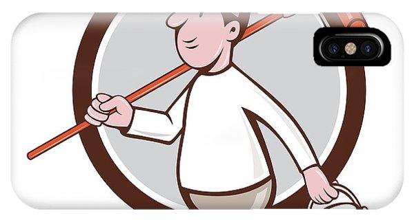 8d3cf8f5d74 House Painter Paint Roller Circle Cartoon New Media By Aloysius