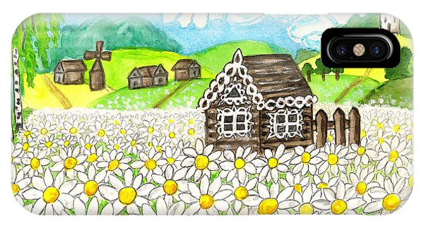 House With Camomiles, Painting IPhone Case