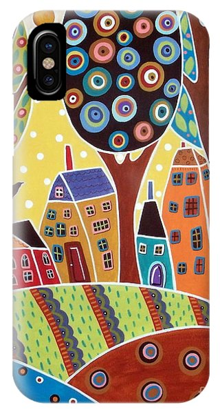 Blackbird iPhone Case - Houses Barn Landscape by Karla Gerard