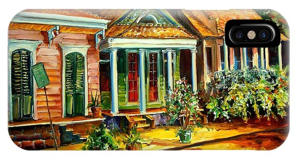 Neighborhood iPhone Case - Houses In The Marigny by Diane Millsap