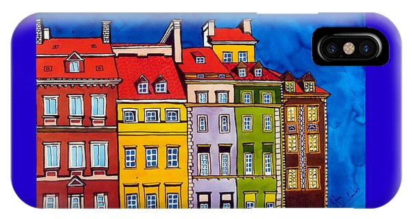 Houses In The Oldtown Of Warsaw IPhone Case