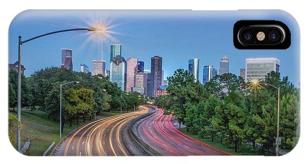 Houston Evening Cityscape IPhone Case