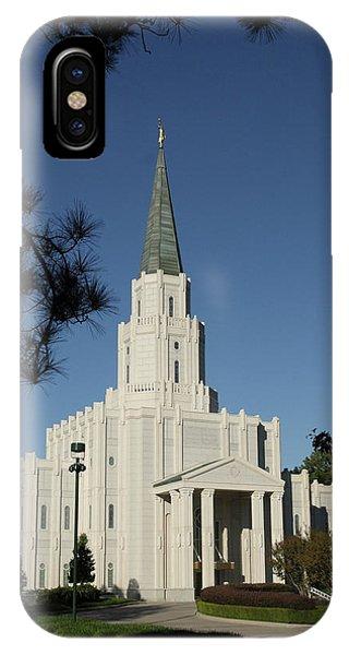 Houston Lds Temple IPhone Case