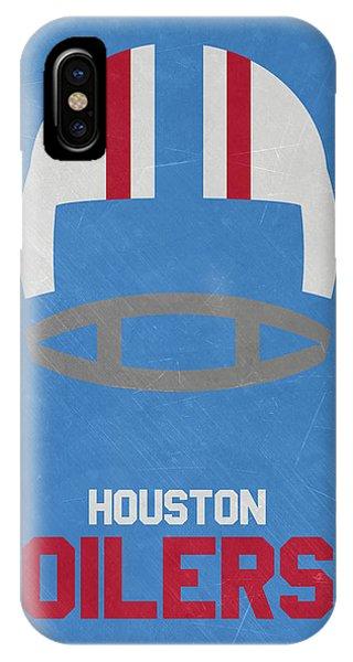 Ball iPhone Case - Houston Oilers Vintage Art by Joe Hamilton