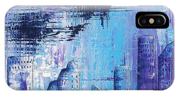 Houston Skyline 1 IPhone Case